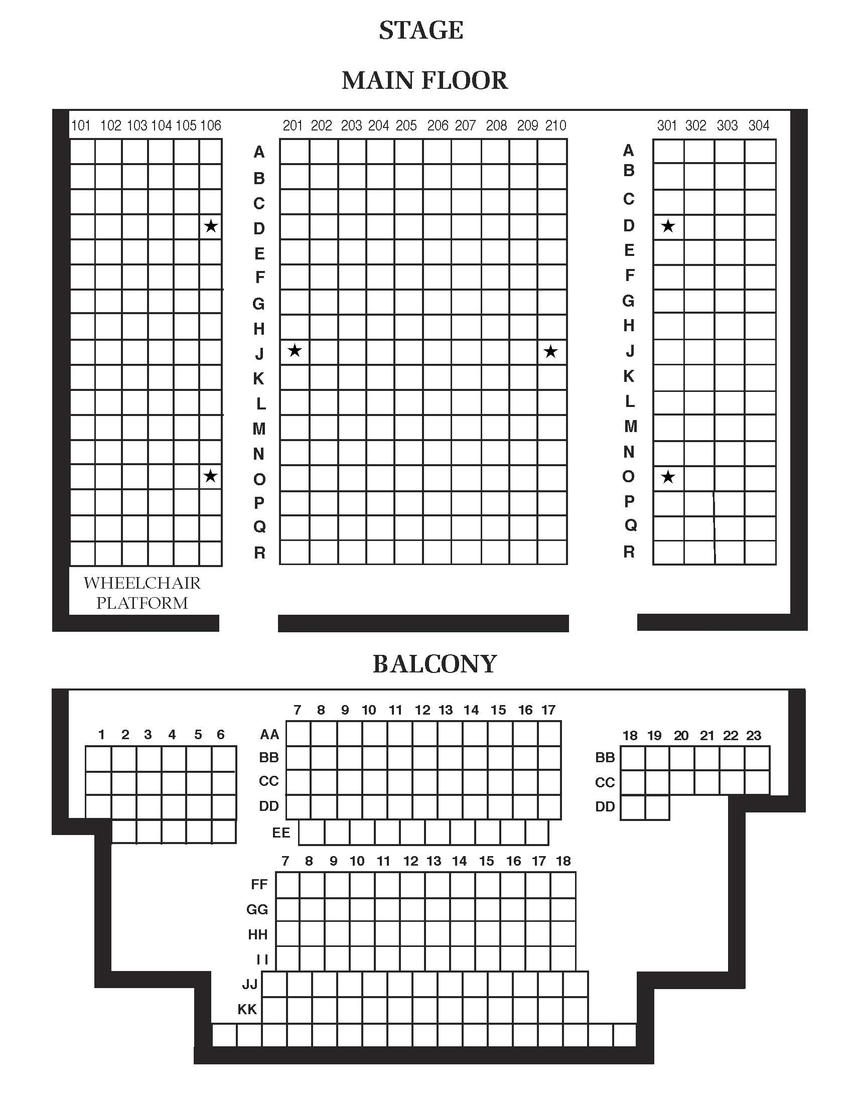 Beall Hall Seating Chart